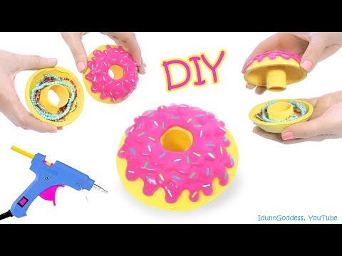 How To Make A Donut Jewelry Box Out Of Hot Glue – DIY Glue Gun Doughnut Jewelry Organizer