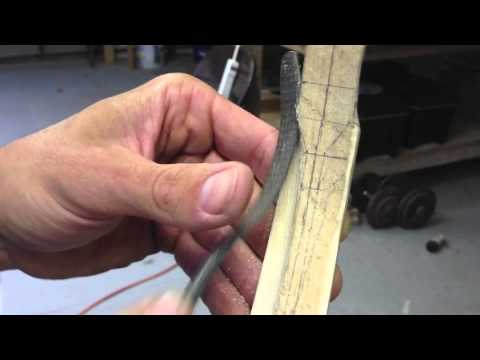 Shaping the Kasan of a Turkish Composite Horn Bow