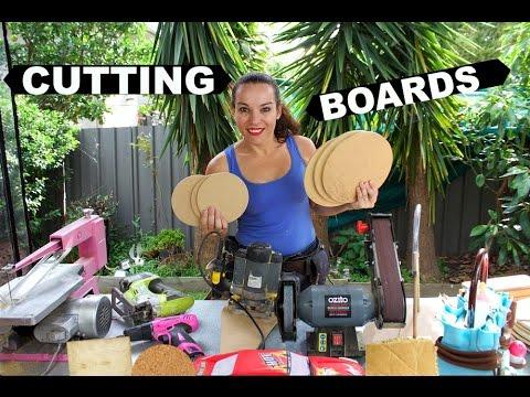 CAKE BOARD CUTTING W/ POWER TOOLS | MY BACKYARD | BY VERUSCA WALKER