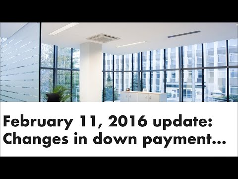 Changes in down payment requirements and Ontario's $100 million energy efficient upgrades program