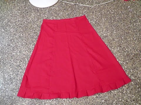 HOW TO CUT AND STITCH  SAREE INSKIRT  IN TAMIL IN A SIMPLE METHOD.
