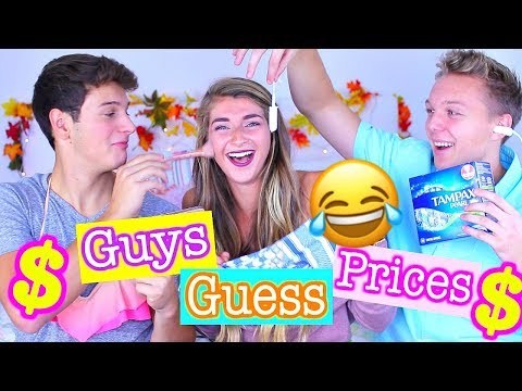 Guys Guess Price of Girly Items! Tampons, Makeup & More!