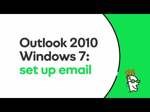 GoDaddy Office 365 Email Setup in Outlook 2010 (Windows 7) | GoDaddy