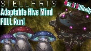 Stellaris   Adaptive Hive Mind FULL Playthrough   Max AI Difficulty!