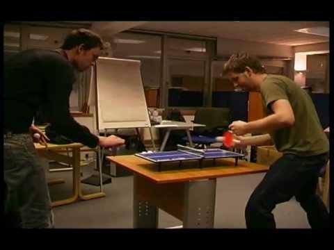 Micro Mini Ping Pong Superstars - Epic 109 shot rally (mini table tennis)