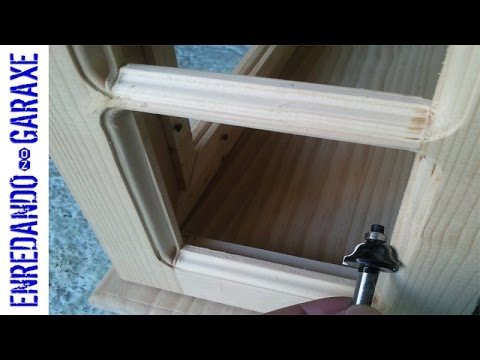 How to route a molding and the cabinet glass rabbet