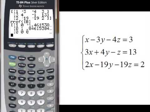 matrix consistency with TI84 Graphin Calculator