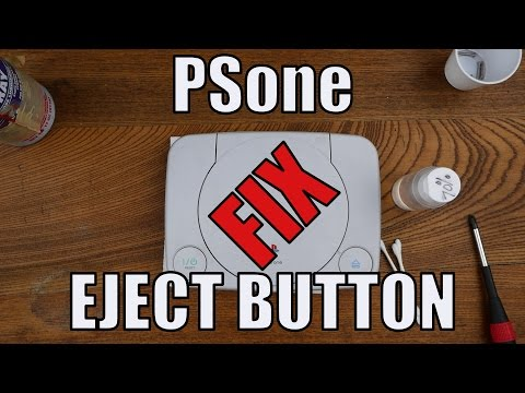PSone Eject Button Not Working Fix Repair - The End of Lid Smashing Frustration!