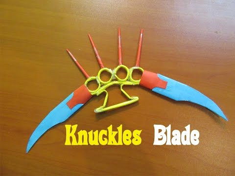 How to Make a Paper knuckles Blade (Weapon)- Easy Tutorials