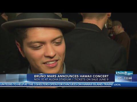 Bruno Mars ticket sales start June 9th