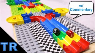 Side-by-Side Race w/ 16 Marbles #3 on Hubelino | ToyRacing