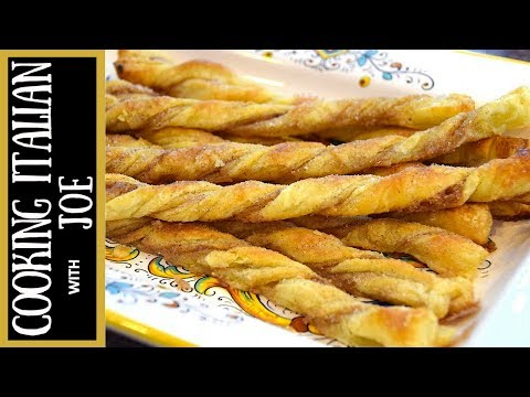 Delicious Cinnamon Puff Pastry Twists Cooking Italain with Joe