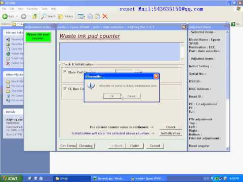 RESET XP 400 resetter Waste ink pad counter