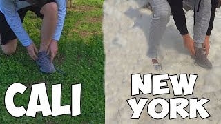 Tying My Shoes In Every State (World Record)