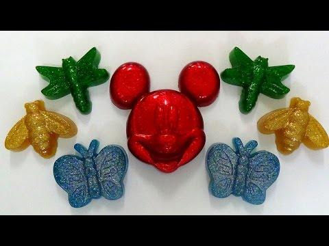 how to make gummy jello glitter mickey mouse, insects