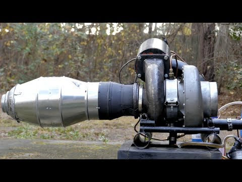 Home-built Gas Turbine Turbojet Engine - 2nd Documentary