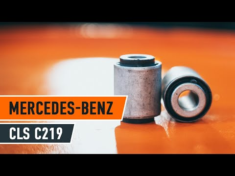 How to replacefront arm bushesonMERCEDES-BENZ CLS C219 TUTORIAL   AUTODOC