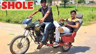 CAR SEAT FIT IN BIKE | जय वीरू (SHOLEY) वाली बाइक बनाई | Blade XYZ |