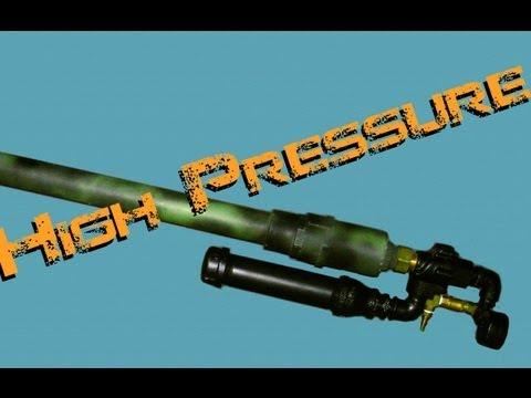 High Pressure Air Cannon (shoots golf balls)