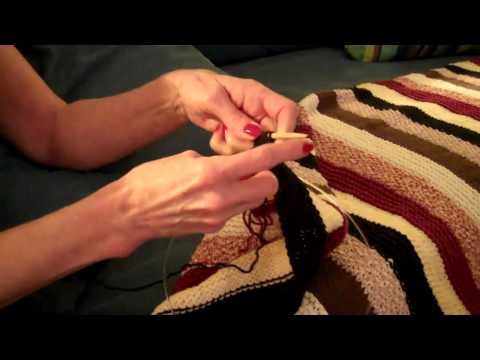 Finishing Koby's Knitted Blanket
