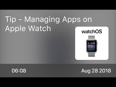 SCOM0764 - Tip - Managing Apps on Apple Watch