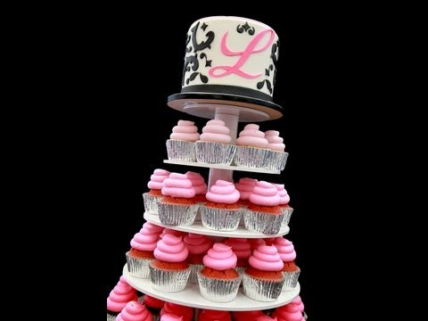 Sweet 16 Ombre Cupcake Stand