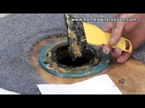 Toilet Flange Wax Ring Replacement Part 1 of 2