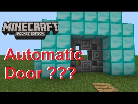 How to Make a REDSTONE SPIRAL DOOR | Minecraft PE