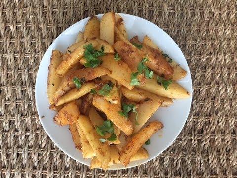 Masala Potatoes Recipe   Easy 10 min Side Dish - Snack Ideas
