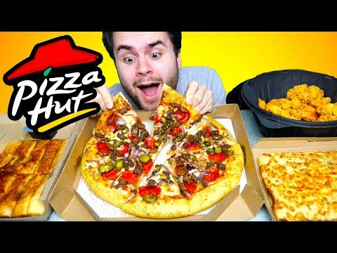 Pizza Hut MUKBANG | Four Course Meal Eating Show