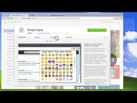 Emoji Input Chrome Extension - How to see and use emoji in Google Chrome using a plugin