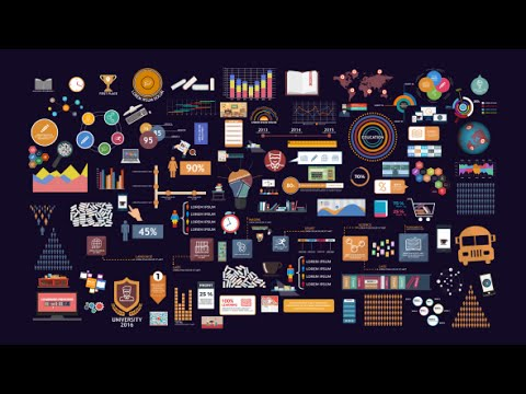 BigData Education Infographics Pack | After Effects template