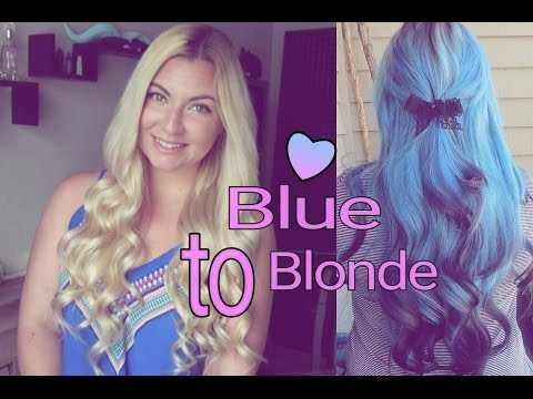 Remove Blue Hair Dye | Blue to Blonde hair
