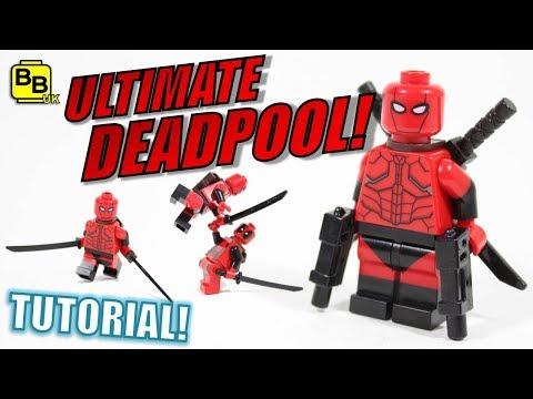 LEGO ULTIMATE DEADPOOL MINIFIGURE CREATION!