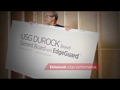Introducing USG Durock® Brand Cement Board with EdgeGuard™