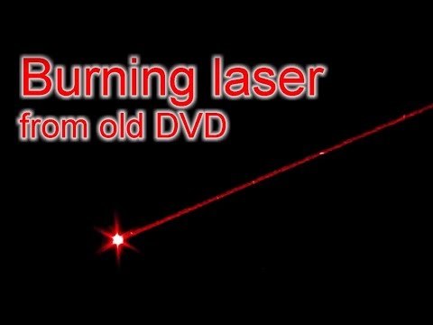 DIY Extremly powerful burning laser from old DVD / Мощный лазер из старого DVD (reload)