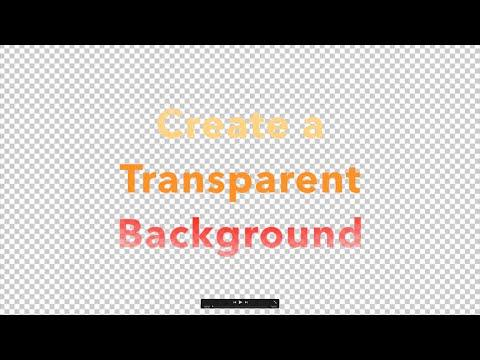 Create a Transparent Background