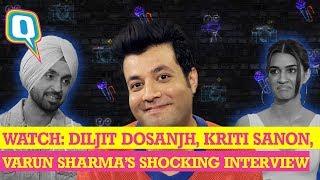 Arjun Patiala Movie Cast: Honest Bollywood Interview(Ft. Diljit Dosanjh, Kriti Sanon & Varun Sharma)