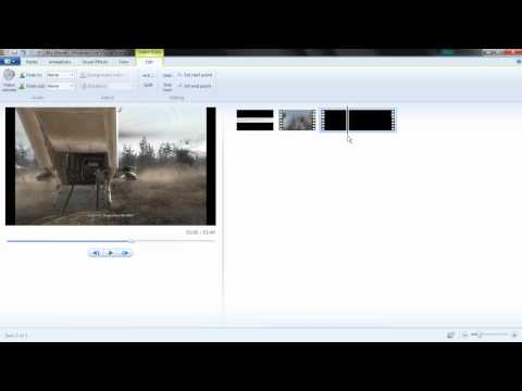 How to mute segments of videos in windows live movie maker.