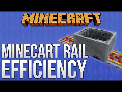 Minecart Rail Efficiency [Minecraft Myth Busting 83]
