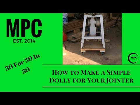 How to Make a Simple Dolly for Your Jointer