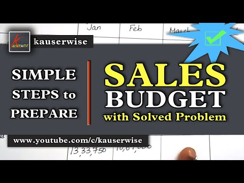 Sales budget (Cost of Slaes - Volume of sales )with  Solved Problem :- by kauserwise