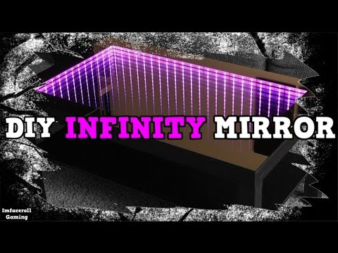 How to make infinity mirror for Custom desk PC Mod