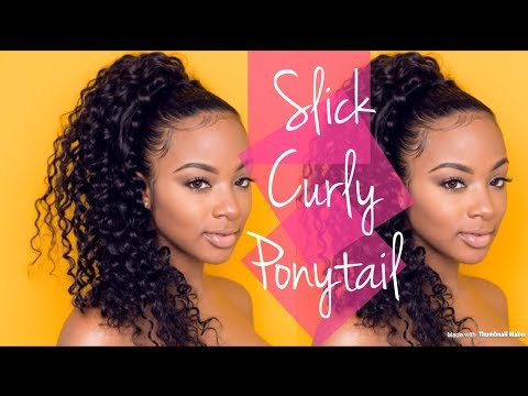 How To | Slick PonyTail with Curly Extensions