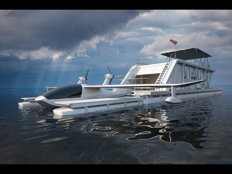 Futuristic houseboat - an ecological project that will make you appreciate life on water