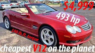 🔥I just bought the cheapest V12 on the planet 👑 Mercedes SL600 R230 for $4,999❗ there are issues⚠️