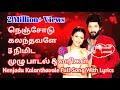 Sembaruthi Kalyanam Song En Nenjodu Kalanthavale Full Song Aadhi Paarvathi Love Status mp3