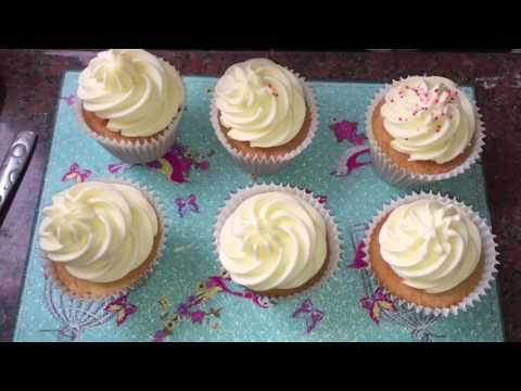 DECORATING: Almond Flavour Cupcakes With Simple Sprinkles