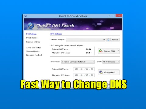 Fast Way to Change DNS
