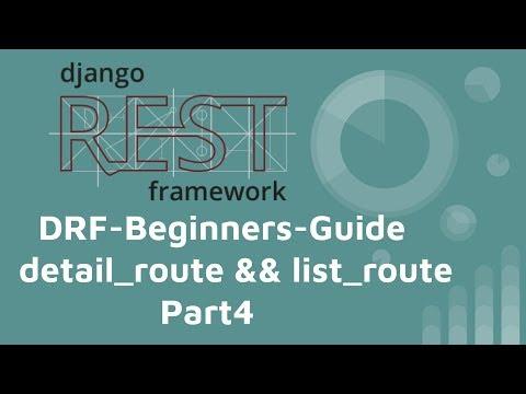 Django-REST-framework 基本教學 (PART 4) -  detail_route and list_route